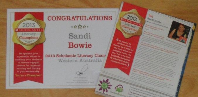 Scholastic Literacy Champion 2013