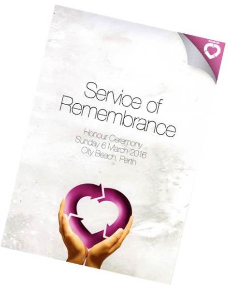 Donate Life, Service of Remembrance 2016