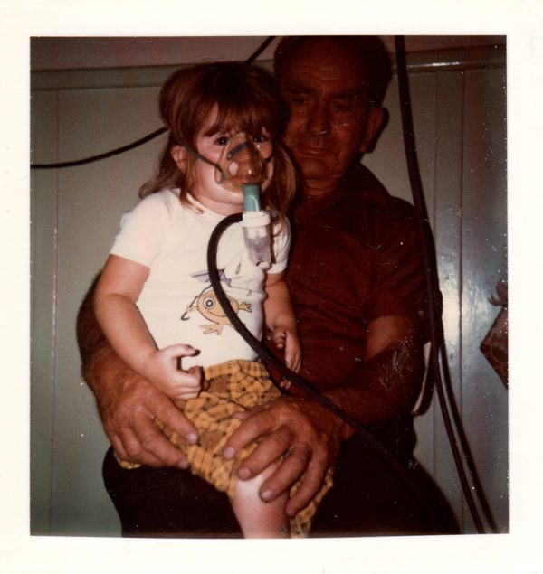 With my wonderful Pop, 1975