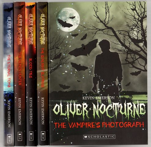 Oliver Nocturne by Kevin Emerson Books 1 - 5 (Book 6 not in included in the image)