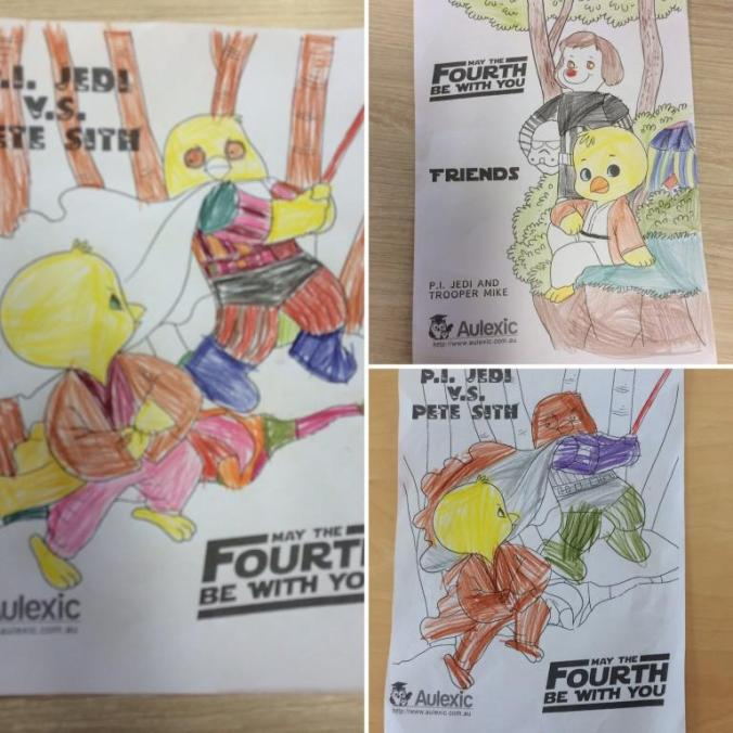 May the Fourth Colouring Sheets from Aulexic