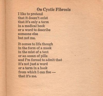 On Cystic Fibrosis by Robyn Miller