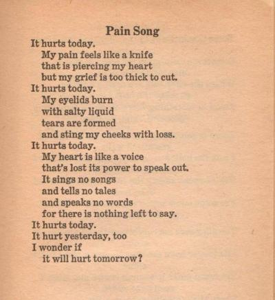 Pain Song By Robyn Miller